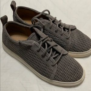 Lucky Brand suede gray sneakers 6.5